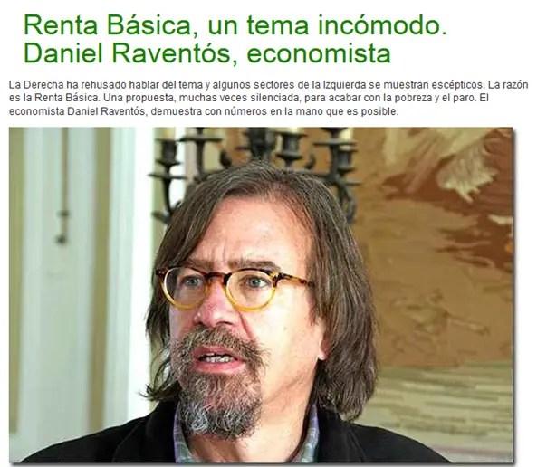 """renta basica raventos - RENTA BÁSICA: """"Es posible dar un salario a todo el mundo"""""""