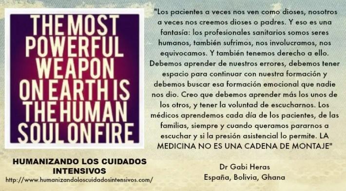 """GAVI HERAS - """"La Medicina no es una cadena de montaje""""  Entrevista al Dr Gabi Heras sobre el proyecto """"Humanizando los CUIDADOS INTENSIVOS"""""""