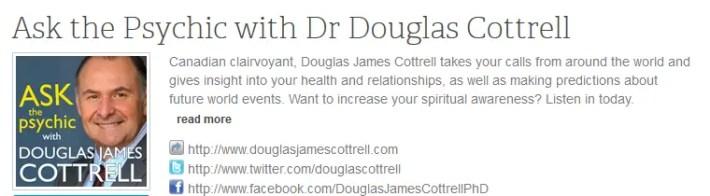 """douglas radio - DOUGLAS COTTRELL en España el 17 de mayo 2014: """"Todos venimos aquí para mejorar espiritualmente"""""""