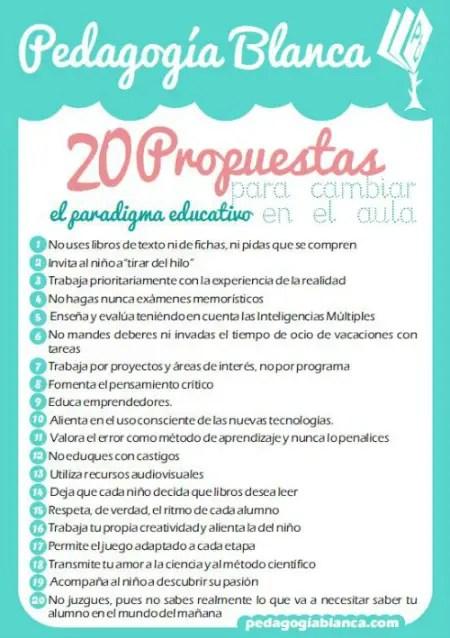 20 propuestas