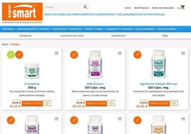 Supersmart - Supersmart.com: complementos alimentarios y suplementos nutricionales de calidad a un precio especial