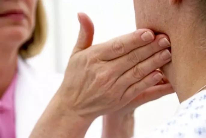 Agrandamiento de ganglios linfáticos en el cuello