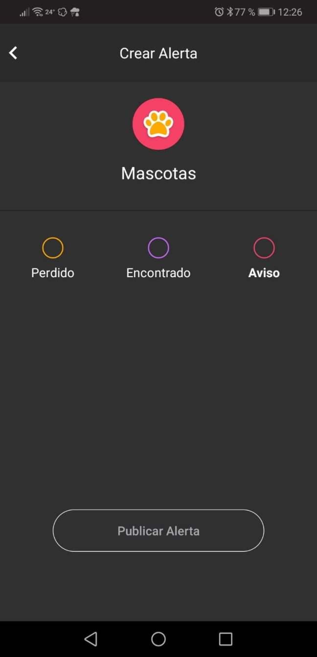 aplicación móvil para encontrar mascotas