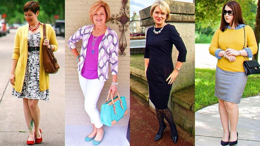 los estilismos de moda de la mujer madura