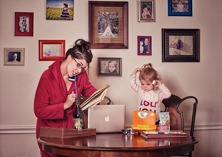 Mamis que trabajan desde casa
