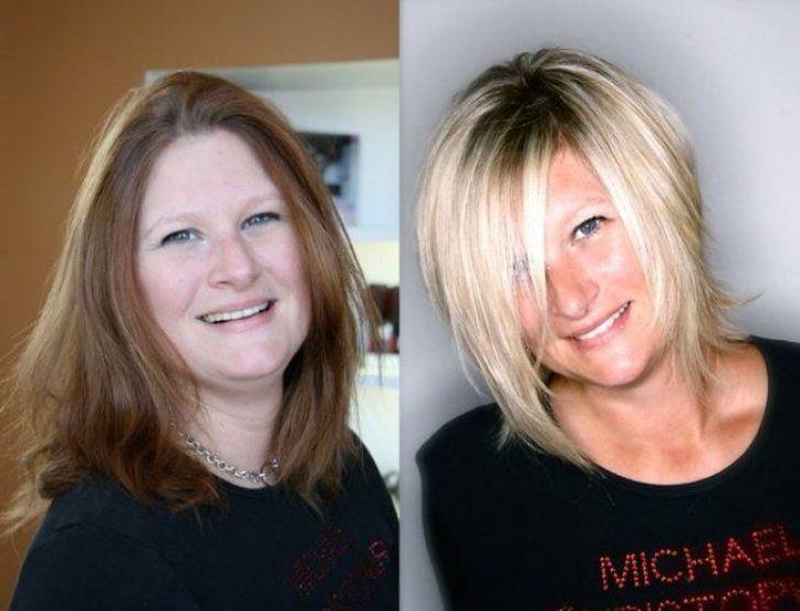 un antes y un después de un cambio de look