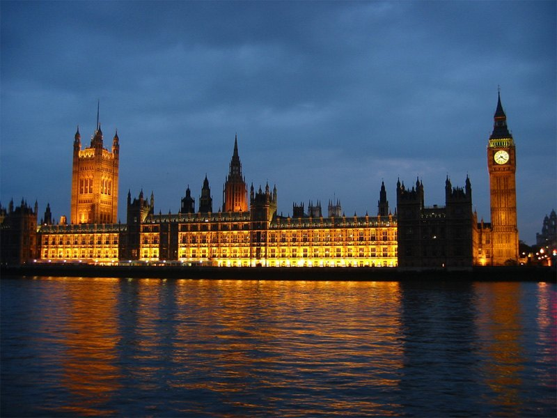 Torre de Big Ben en Londres de noche