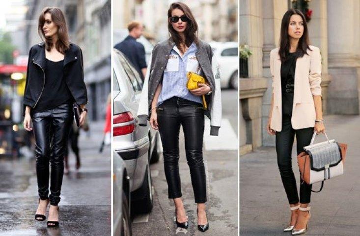 jeans de cuero o cuerina