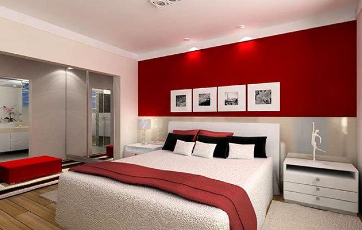 Decoración pieza en rojo y blanco