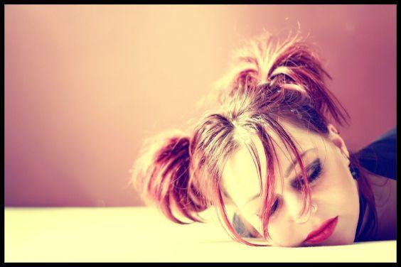 Chica agotada