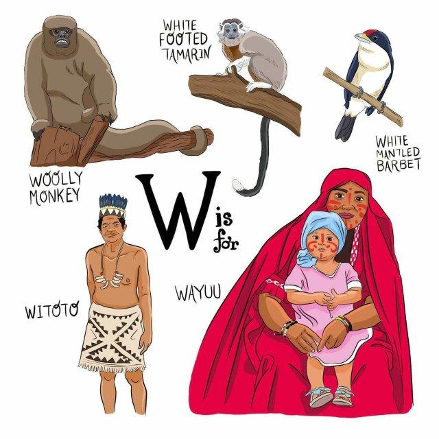 abecedario colombiano el bogotano w