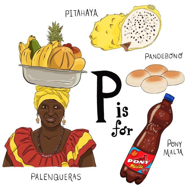 abecedario colombiano el bogotano p