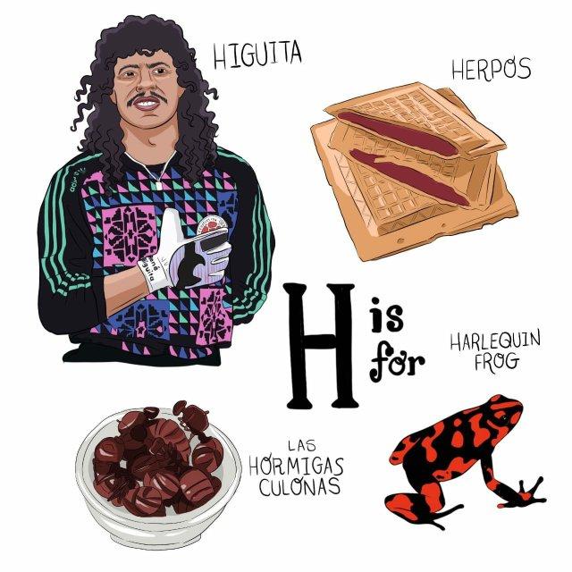 abecedario colombiano el bogotano h
