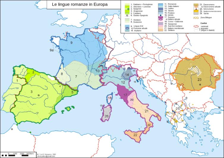 Lingue romanze in Europa