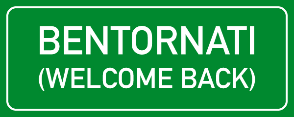Bentornati-Welcome-back