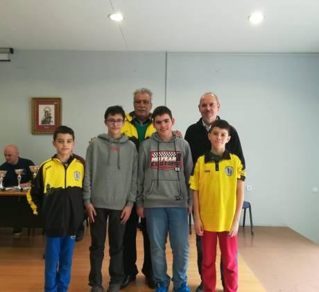 Algunos de los jugadores del Club El Caballo que participaron en el I Campeonato de Málaga sub1800