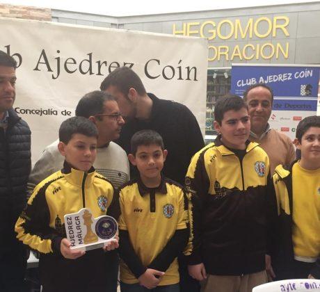 Campeones de la VI Copa de Málaga Infantil por equipos