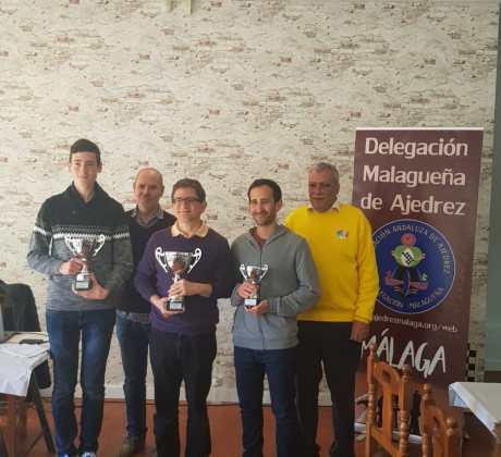 Primeros clasificados del Campeonato de Málaga Activo