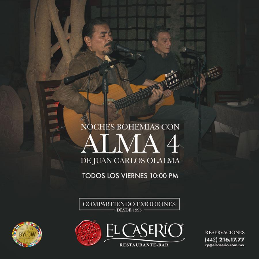 El Caserío Shows y Música presentan ALMA 4