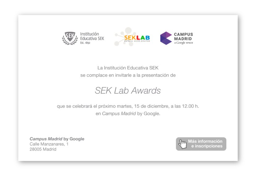 Invitación SEK Lab