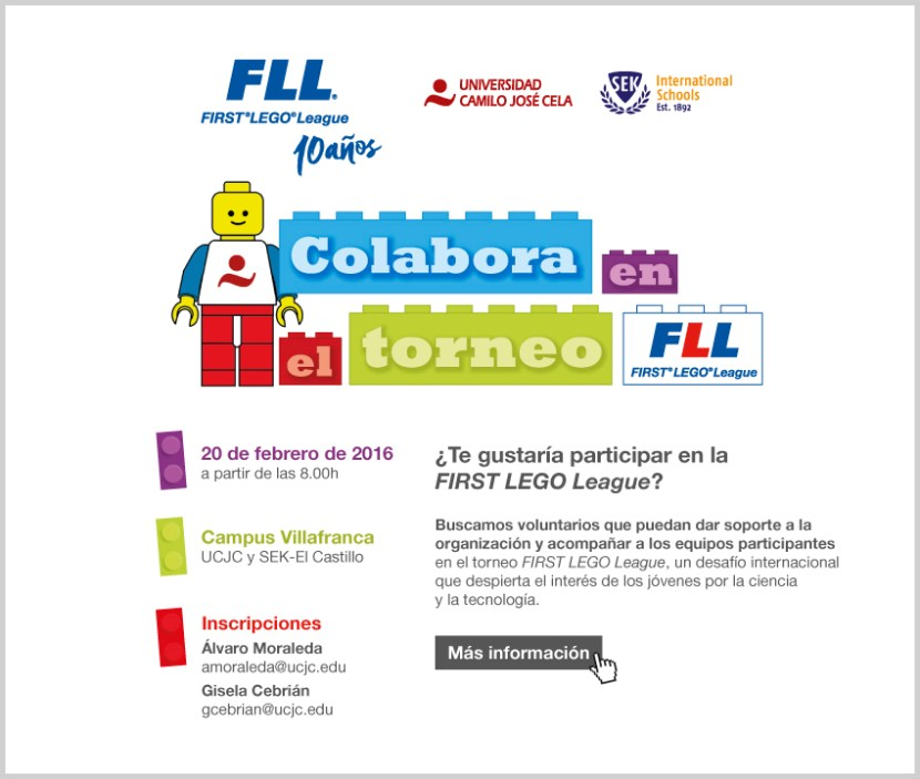 Invitación FISRT Lego League 2016