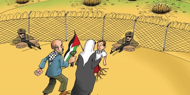 """كاريكاتير العودة.. سلاح المقاوم الذي يربك """"إسرائيل"""""""