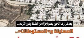 50 عاماً من اغتصاب الأرض ..  الصهاينة و  المستوطنات
