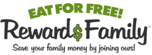 Join our Rewards Family program and eat for free!