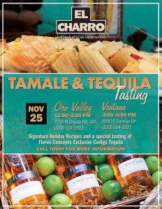 Tamale & Tequila Tasting @ El Charro Café - Oro Valley