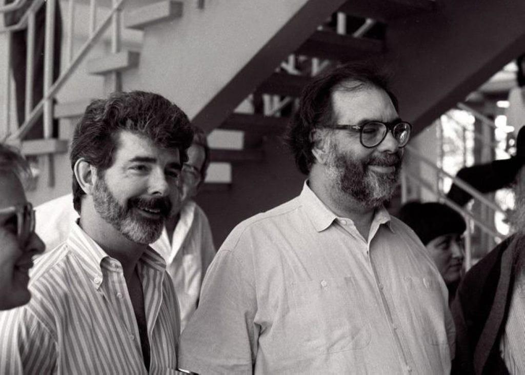 Francis Ford Coppola y George Lucas en la EICTV, 1989