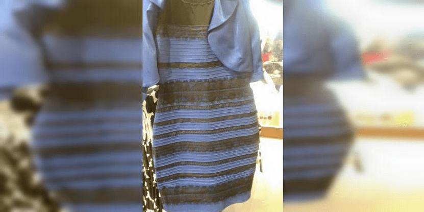 Vestido azul y negro explicacion