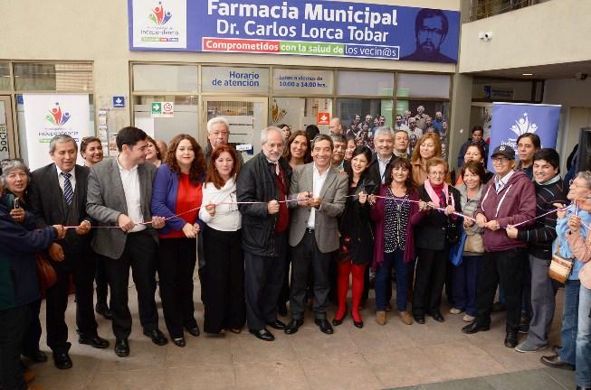 "Independencia inaugura la Farmacia Municipal ""Dr. Carlos Lorca Tobar"""