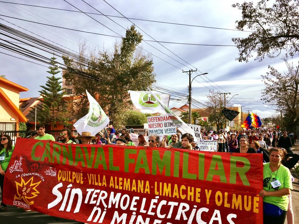 Quilpué: Seis mil personas se manifiestan contra proyecto Los Rulos de IC Power