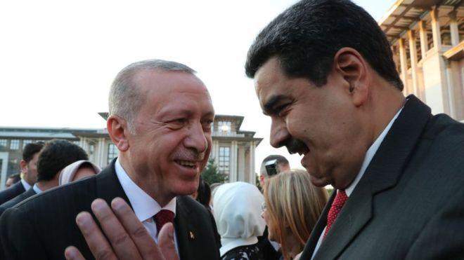 Erdogan ofrece apoyo a venezuela