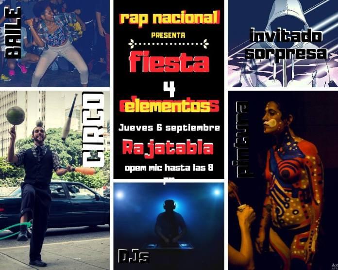 evento de rap en Caracas
