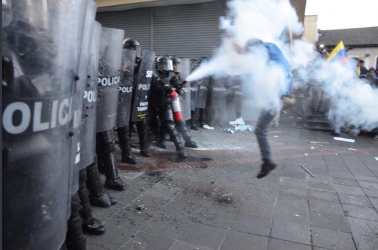 Represión Ecuador