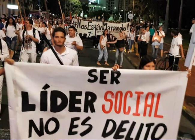 marcha contra asesinatos