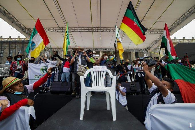 Colombia: Duque no se presentó para dialogar con la Minga Indígena en Bogotá