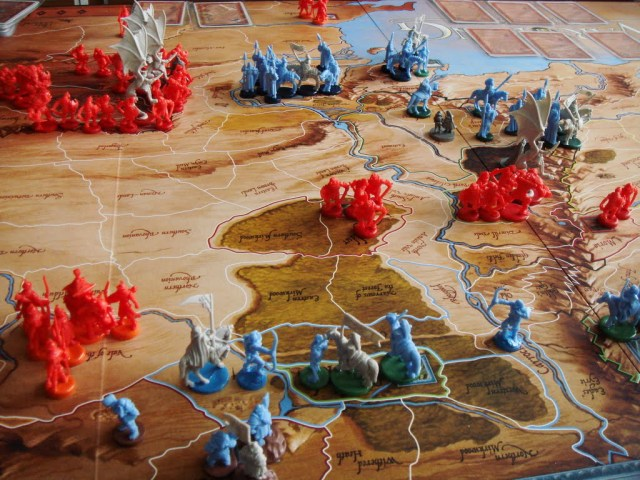 Despliegue de unidades en Guerra del anillo. Fuente: Aaron Tub, Pinterest