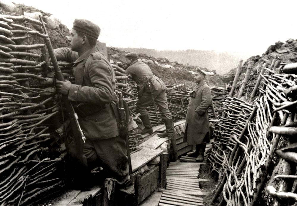La vida en las trincheras no fue fácil... Soldados alemanes durante la 1ª Guerra Mundial