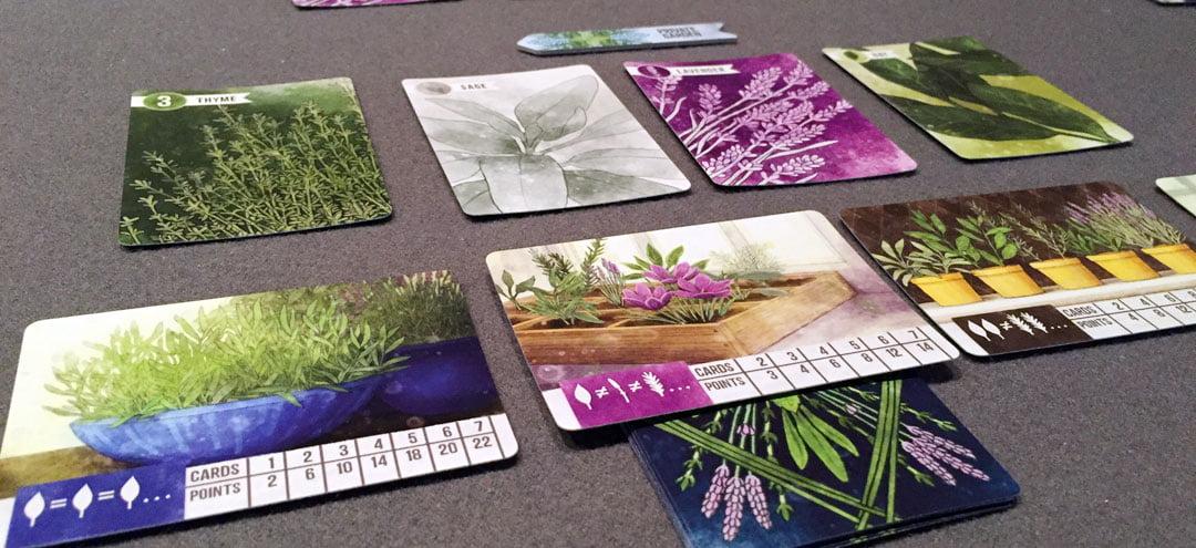 Herbáceas juego de mesa