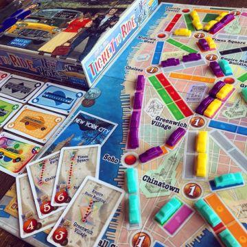 Aventureros al tren nueva york juego de mesa