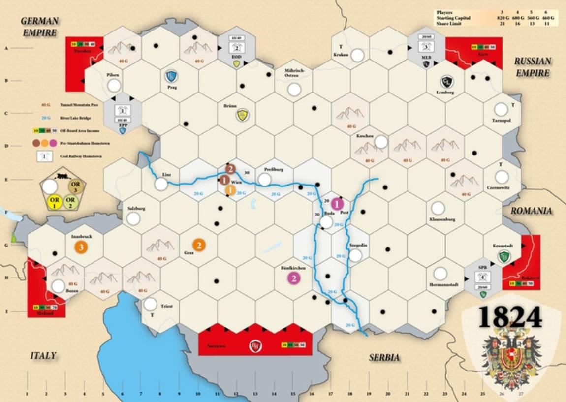 1824 Austria-Hungría juego de mesa