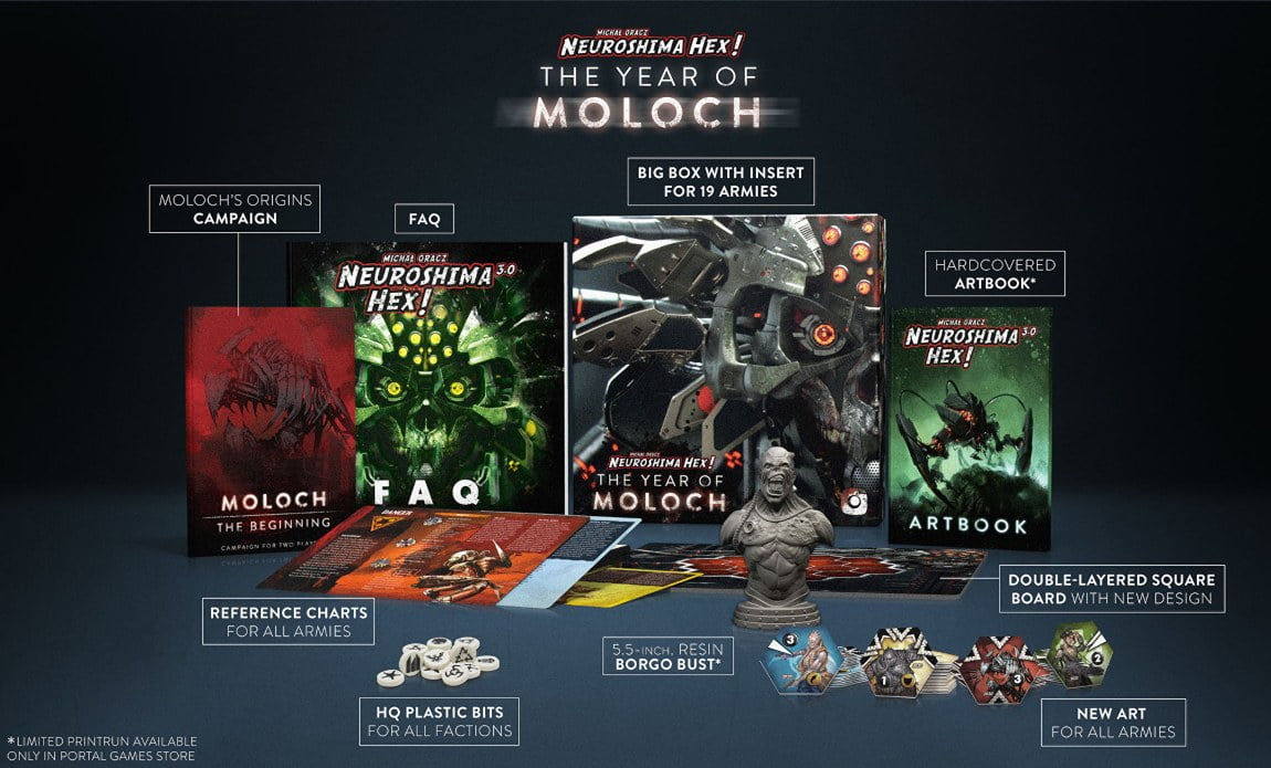 Neuroshima Hex 3.0: Year of Moloch Edition juego de mesa