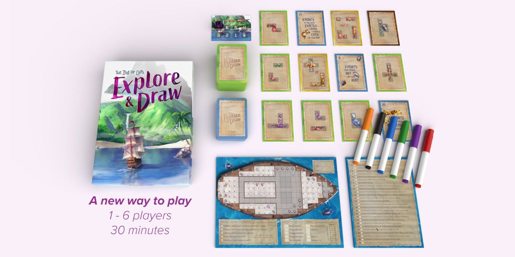 The Isle of Cats Explore & Draw juego de mesa
