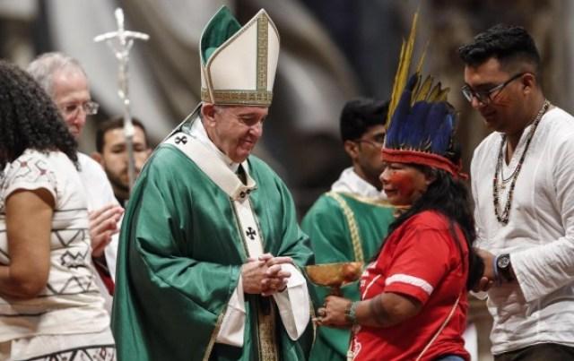El Sínodo de Obispos sobre la Amazonia surgió del interés del Papa Francisco en fortalecer el catolicismo en esta región y buscar soluciones desde la ecología integral a la crisis ambiental. FOTO EFE.