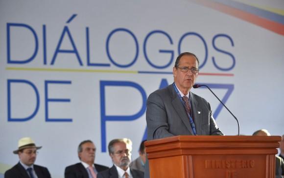 El jefe negociador del Gobierno, Juan Camilo Restrepo, respondió la carta. FOTO COLPRENSA