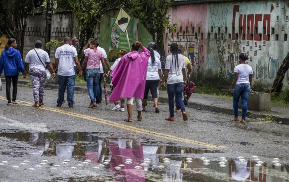 La Defensoría del Pueblo pidió atención especial para atender los desplazamientos en las últimas semanas en Chocó, en especial sobre la subregión del Bajo Atrato. FOTO juan antonio sánchez