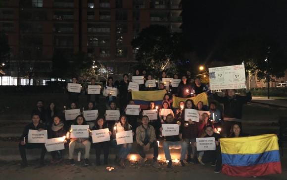 Un parque en Sidney, Australia, fue el sitio desde el cual expresaron solidaridad con la situación en Colombia.