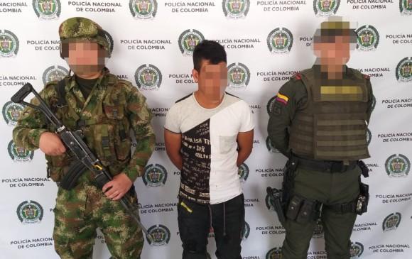 """Alias """"Chan"""" y """"Jairo"""", hombres de confianza de alias """"Cabuyo"""" fueron capturados en el Norte de Antioquia. FOTO: Cortesía"""